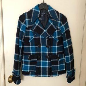 American Eagle Blue Plaid Jacket Size XS